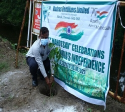 Tree Plantation by Asst.Manager -Fire&Safety